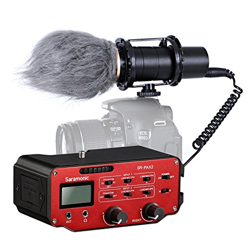 (Movo DSLR Audio Bundle with XY Capsule Stereo Video Microphone and Premium Mixer for DSLR Cameras and)
