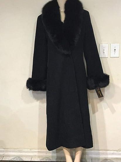 the best sleek cheap prices Amazon.com: Marvin Richards Women's Winter Black Fox Fur Cashmere ...
