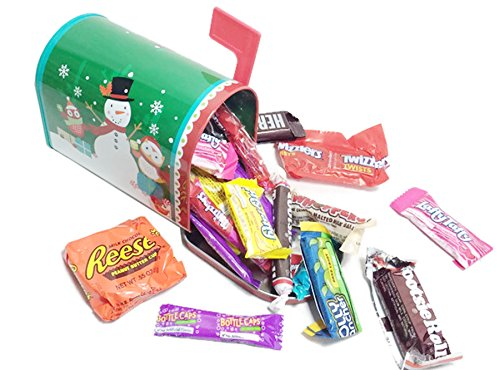 Happy Holidays ~ Treat Filled Mailbox Tins ~ Filled with an Assortment of Holiday Candies (Believe)