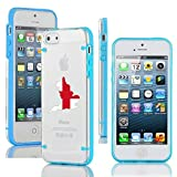 Apple iPhone 4 4s Ultra Thin Transparent Clear Hard TPU Case Cover England English Flag (Light Blue)