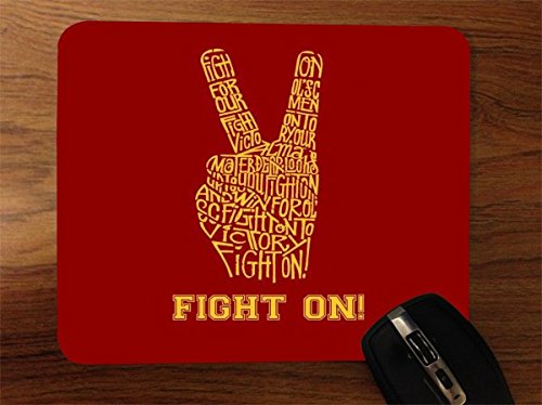 Fight On USC Football Desktop Office Silicone Mouse Pad by Debbie's Designs