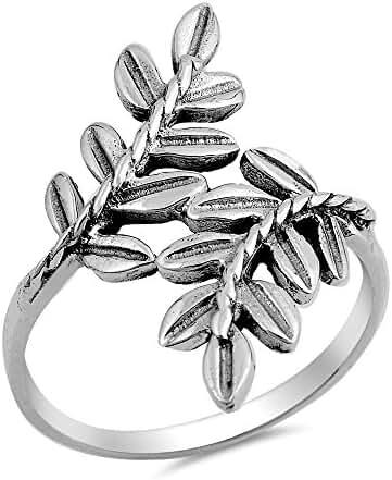Sterling Silver Laurel Ring 27MM