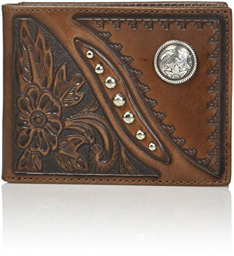 Embossed Rawhide Men's Brown Nocona Wallet Knot Nocona Men's Bifold nfIqwgWB