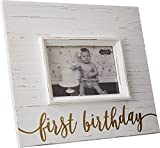 Mud Pie Unisex First Birthday Gold Frame White Stroller Review
