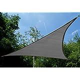 Voile d'Ombrage Charbon Triangle 5m - Ajourée - 320g/m2 - Kookaburra