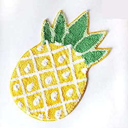 YOUSA Pineapple Door Mat Cartoon Area Rugs Pineapple Welcome Rug (32.6''x19.3''x7.1'')