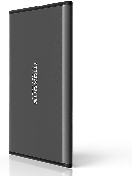 Maxone 1TB Ultra Slim Portable External Hard Drive HDD USB 3.0 for PC, Mac, Laptop, PS4, Xbox one - Charcoal Grey
