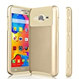 Galaxy On5 Case, On 5 Case, Tinysaturn(TM) [Ymars Series] [Gold] Hybrid Shock Absorbing Dual Layer Rugged Impact Defender Hard Shell Rubber Protective Cover Case For Samsung Galaxy On5 / G550
