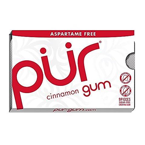 PUR Gum Cinnamon Aspartame Free, 9 Piece Sleeve (0.4 Ounces)