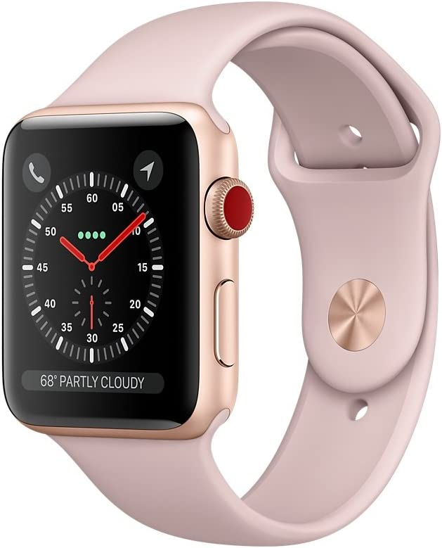 Apple Watch Series 3 - GPS+Cellular - Gold Aluminum Case with Pink Sand Sport Band - 38mm 512GJal8ADLSL1000_