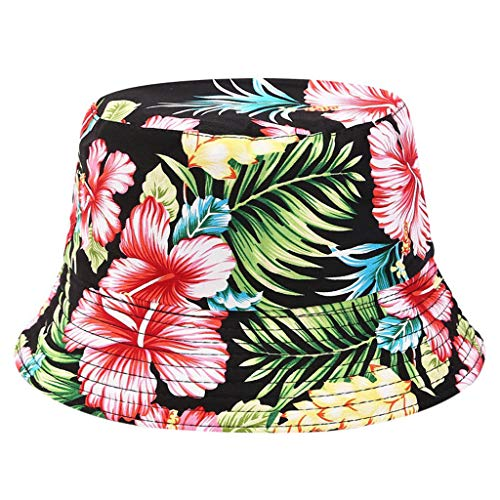 Tomppy Bucket Hats for Men Women Summer UV Protection Printed Double-Sided Wearing Outdoor Travel Sun Visor Hat Caps