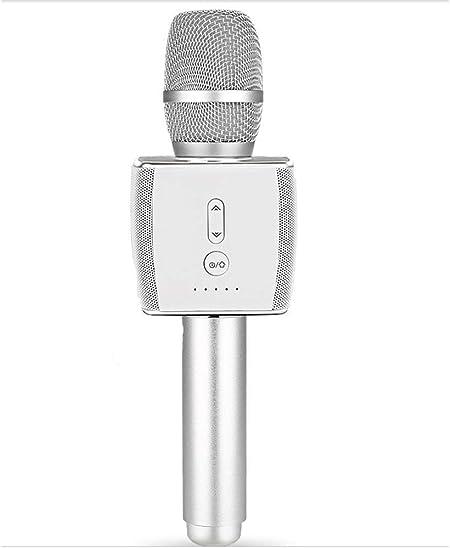 Bdesign Micrófono Integrado de micrófono inalámbrico de micrófono de Karaoke Universal Dual K Canción del teléfono móvil de Audio del micrófono for Todos los teléfonos Inteligentes: Amazon.es: Hogar