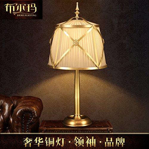 Gehobene amerikanische Land Kupfer Tischleuchte Continental pastorale minimalistischen Schlafzimmer Wohnzimmer Studie Nachttischlampe