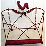 Red Rooster Chicken Kitchen Cookbook Stand