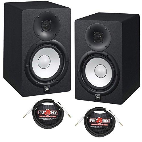Yamaha HS7 Powered Studio Yamaha Monitors Pair - Black w/XLR Pair Cables - Bundle [並行輸入品] B07MH9WMTL, THIS IS THE STORE:b13c473c --- kapapa.site