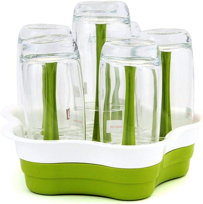 HuldaqueenCA Baby Bottle Drying Rack Kitchen Storage Plum-Shaped Plastic Cup Holder Bottle Rack Drain Water Control Bracket Drainboard