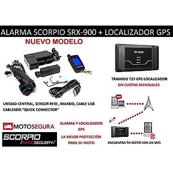 Alarma Scorpio SRX-900 RFID Básica + Localizador GPS/gsm Tramigo T23 ...