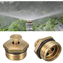 5pcs 1/2 Inch Brass Atomization Spray Nozzle Garden Greenhouse Cooling Misting Sprinkler Head