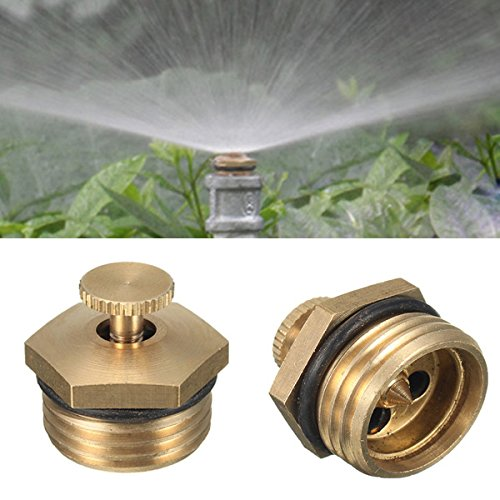 5Pcs 1/2 Inch Brass Atomization Spray Nozzle Garden Greenhou
