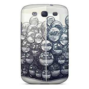 MeSusges Galaxy S3 Hybrid Tpu Case Cover Silicon Bumper Bubbles In A Cube 135