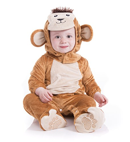 Deluxe Plush Cheeky Monkey Animal Baby Costume (0-6 months, Monkey)