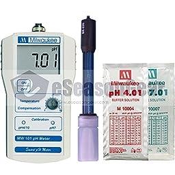 Milwaukee MW101 Digital pH meter w/ Calibration Solution