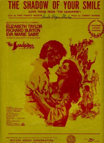 The Shadow of Your Smile (Love Theme from The Sandpiper) Vintage 1965 Sheet Music from