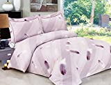 Violet Linen French Feathers Collection 6 Full Duvet Set, 54''