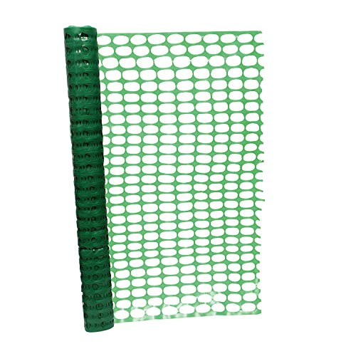 (BISupply | 4 FT Safety Fence – 100 FT Plastic Fencing Roll for Construction Fencing Pet Fencing and Event Fencing, Green)