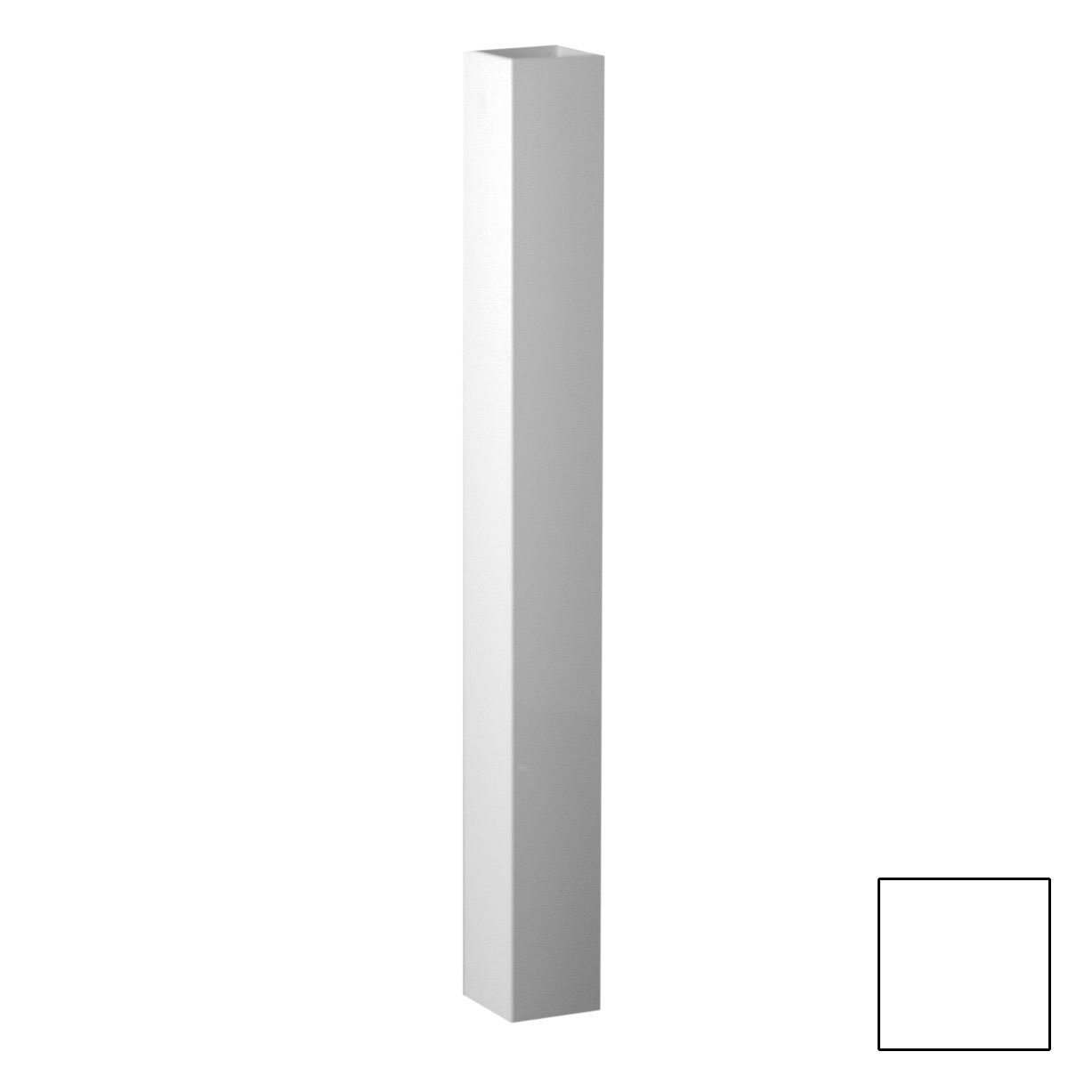 Fypon 40050409PS Post Sleeve with 3 5/8'' Inside Width, 4'' x 4'' x 108'', White