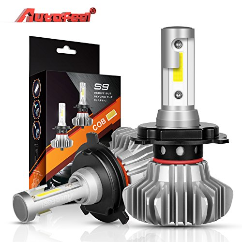 H4 LED Headlight Bulbs Autofeel 9003 HB3 12V 5000LM 360‹Beam Angle Built-in Driver Lamp All-in-One Conversion Bulb Kit High Low Beam with Cool White Lights - 1 Year Warranty - 2000 Mitsubishi Mirage Headlight