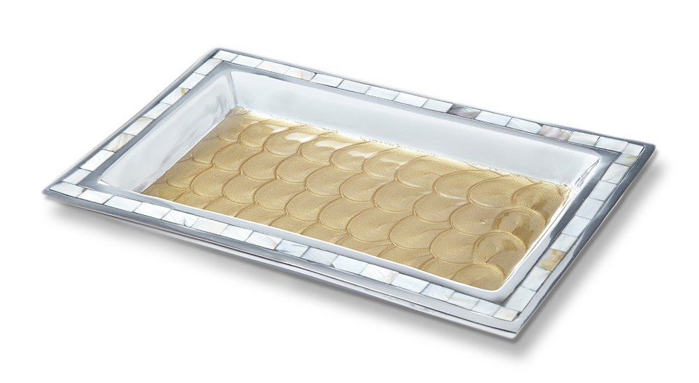 Julia Knight 7722030 Bath Collection Vanity Tray, One Size, Toffee