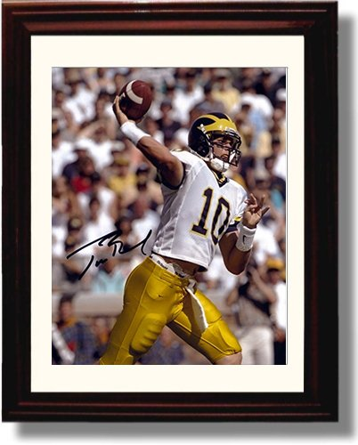 Framed Michigan Wolverines - Tom Brady Throwing Autograph Replica ()