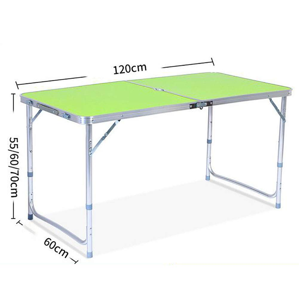 MJJLT 折りたたみ式テーブル ピクニック小シート ポータブルダイニングテーブル アルミ合金 1.2M アウトドアキャンプ用品  green B07VS35DR8