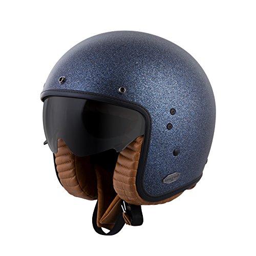 (ScorpionExo Belfast 3/4 Open Face Helmet (Matte Metallic Blue, Large))