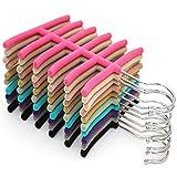 5 Pcs Black Tie Rack, Organizer, Hanger, Holder - Affordable Flocking Tie Rack Scarf Stand Fish Skeleton Storage Rack.