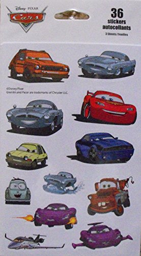 Disney Pixar Cars 36 Stickers