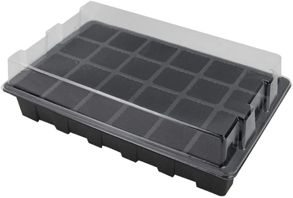 Plant Propagation Soil Hydroponics Plant Growing Plugs 24 Cell Seed Starter Tray Extra Strength 2 Pack Starting Trays for Planting Seedlings