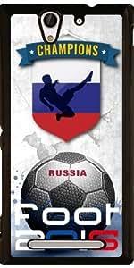 Funda para Sony Xperia C3 - 2016 Pies Rusia by comlaprom