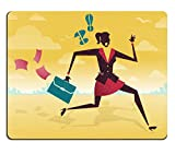 Luxlady Mousepad Great illustration of Retro Styled Businessman on a fleet of paper Airplanes IMAGE 36227707