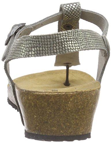 Birkenstock Ashley Leder - Correa de tobillo Mujer Gris - Grau (Royal Python Gray)