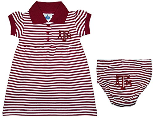 (Texas A&M University Aggies Striped Game Day Dress with Bloomer Maroon)