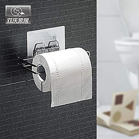 Amazon.com: Best Quality wall mounted type toilet paper holder metal toilet paper roll storage towel racks kitchen shelf bathroom shelf: Kitchen & Dining