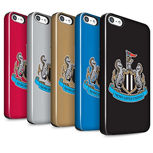 Offiziell Newcastle United FC Hülle / Glanz Harten Stoßfest Case für Apple iPhone 5/5S / Pack 12pcs Muster / NUFC Fußball Crest Kollektion