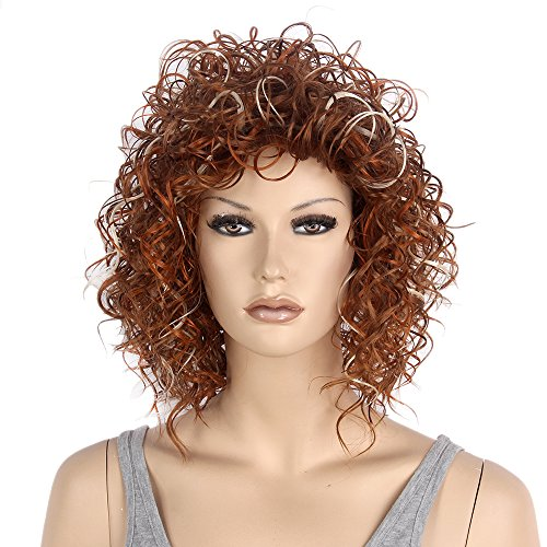 Short Curly Wavy Retro Woman Full Wigs Hair - 9
