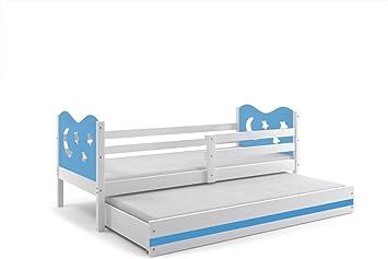 Letto doppio MIKO, lettino per bambini con il secondo letto ...
