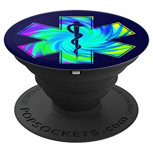 EMT Tie Dye Star of Life Emergency Medicine Medics Paramedic - PopSockets Grip and Stand for Phones and Tablets