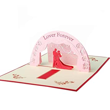 Amazon Com 3d Pop Up Greeting Cards Valentine S Day Gift Card