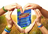Bradford Exchange Mosquito Repellent Bracelets 12pcs, 100% All Natural Plant-Based Oil Mosquito Bands, Non-Toxic Travel Insect Repellent, Soft Material For Kids & Adults, Keeps Insects & Bugs Away