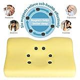 Hokonui Memory Foam Contour Pillow, Washable Organic Cotton Pillow Cover Case, Reduce Neck and Shoulder Pain